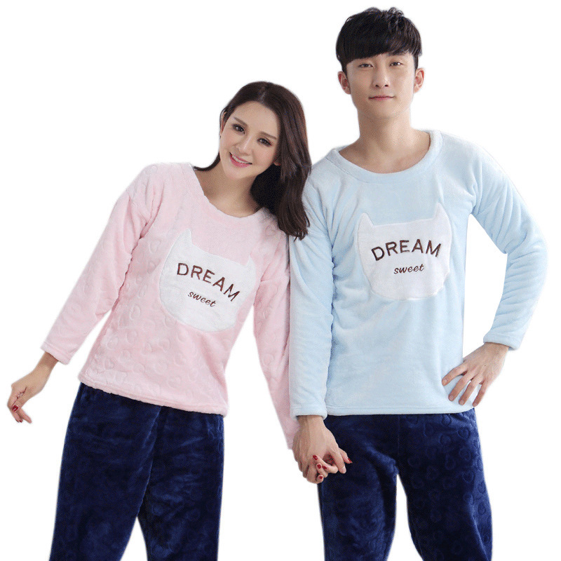ea89d6cc3b Fashion Autumn winter Couple Pajamas Indoor Clothing Cotton Nightgown  Pajamas Sets Warm Couple Sleepwear Home Clothing - Buy Fashion Cheap Couples  Pajamas ...