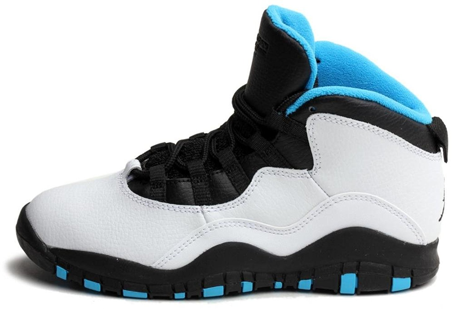 finest selection 00453 bf0fe Get Quotations · Jordan Pre School Retro 10 (Ps) White Dark Powder Blue- Black 310807