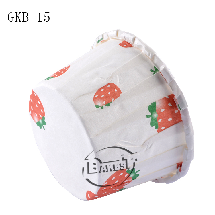 3830-GKB-15 BAKEST Strawberry pattern paper baking cups/disposable paper cup/baking cake cup