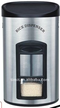 Stainless steel rice dispenser