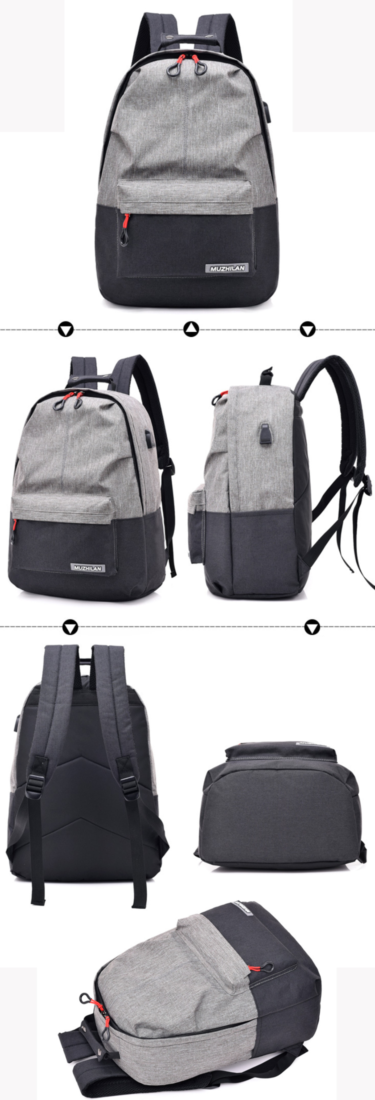 Osgoodway2 Wholesale Wear Resistant Fabric Business Travel Backpack Fashion School Backpack