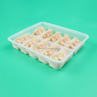 Food Grade Quick Frozen Dumpling Package PET PP PVC Compartment Plastic Blister Tray