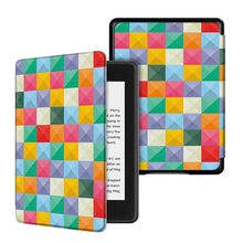 Schilderen flip pu leather case voor amazon <span class=keywords><strong>kindle</strong></span> paperwhite 2018 10th generatie cover