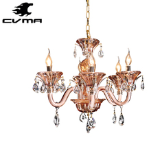 2017 Modern Glass Pendant Lighting High Quality Houses Chandelier Crystal Light with tea color