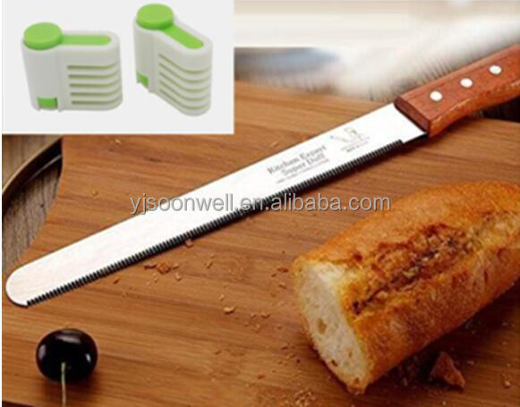 12-Inch serrated slicer edge bread knife with leveler sw-11