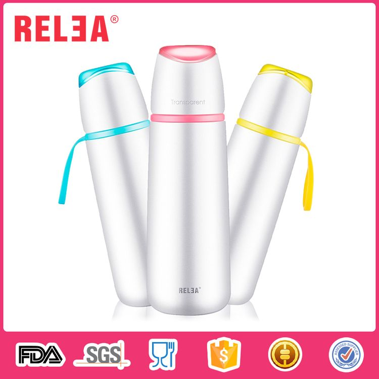Food grade 500ml vacuum insulated sport bottle stainless steel thermos flasks