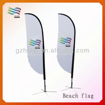 custom outdoor advertising feather beach flags