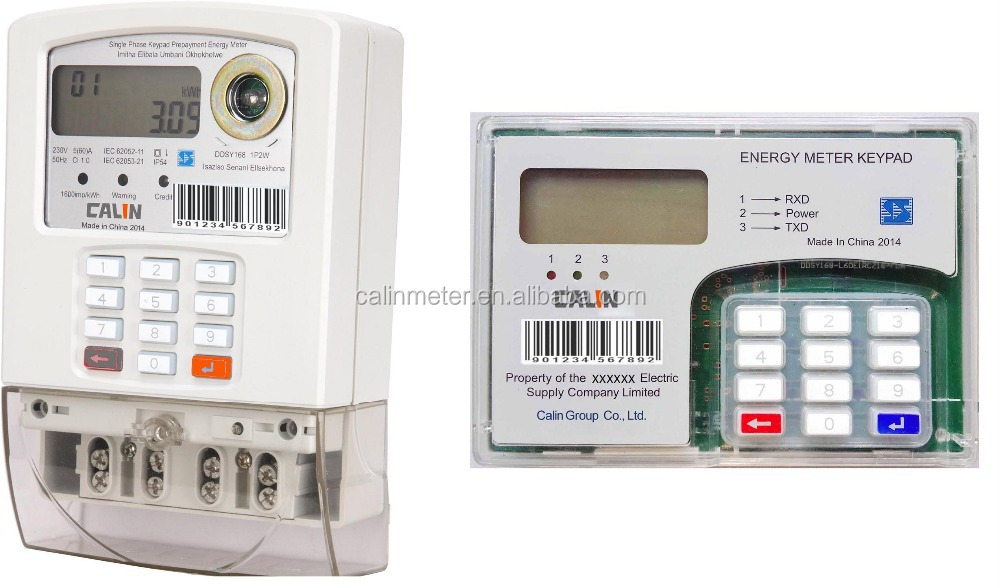 Original Design Split-type Single Phase STS Keypad Prepaid Electricity Meter
