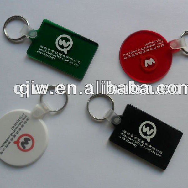 Plastic PVC personalized key chains cheap