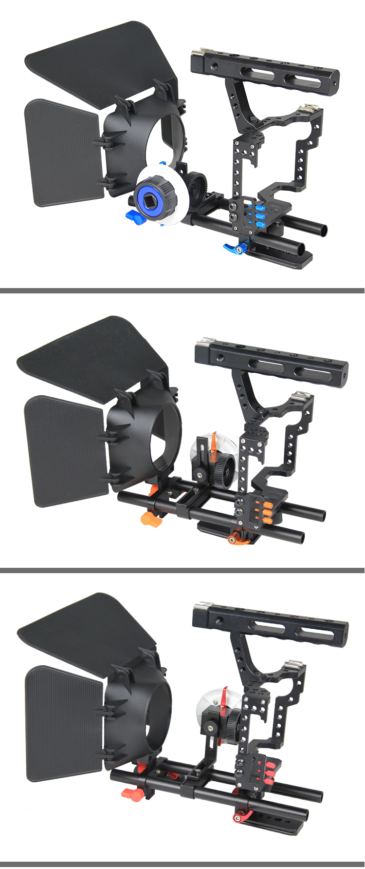 YELANGU Video Equipment Metal ABS Top Handle DSLR Rig Video Camera Cage Kit For GH4, A7S