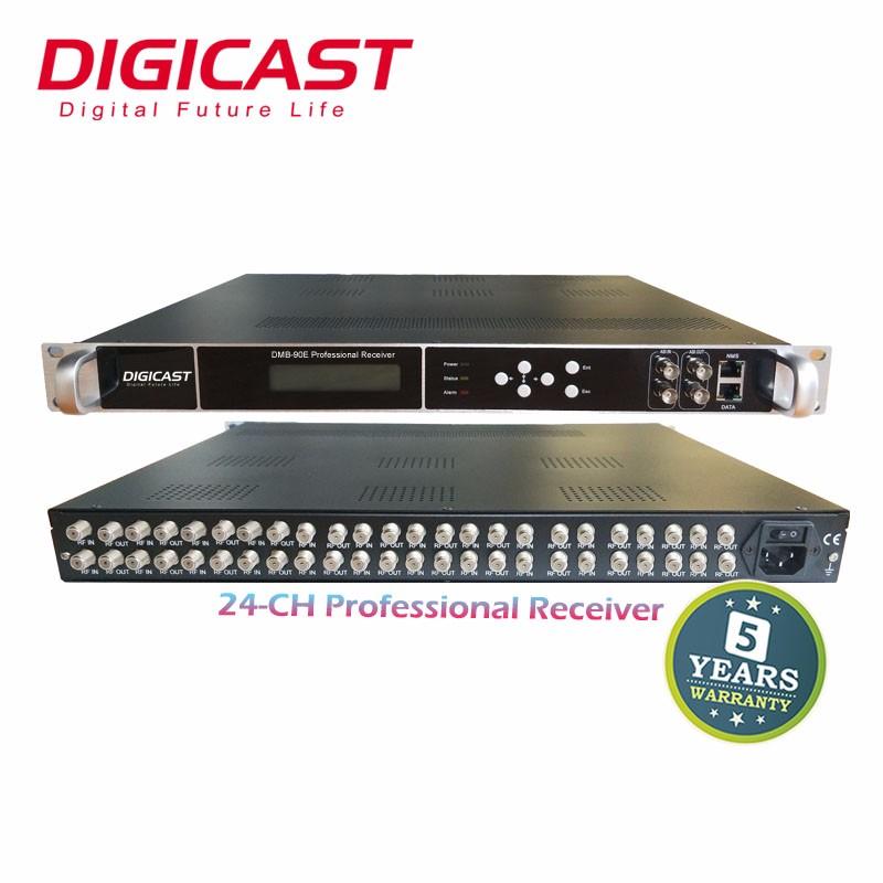 24 In 1ช่องรับสัญญาณดาวเทียมมืออาชีพสำหรับ DVB-T/DVB-S2 IPTV สตรีมมิ่งเซิร์ฟเวอร์ดิจิตอลเคเบิ้ลทีวี Headend IRD