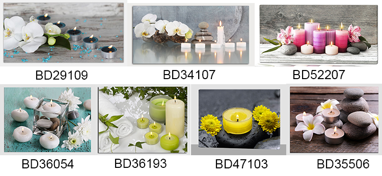 Candle wholesale flower SPA  painting canvas art