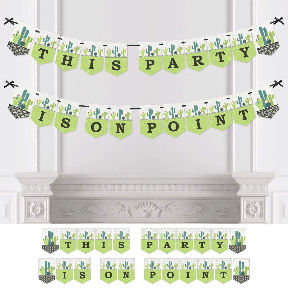 Prickly Cactus Party - Fiesta Party Bunting Banner - Party Decorations - This Party Is On Point