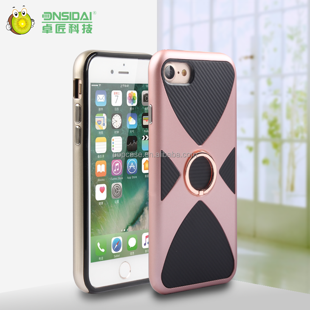 new product model TPU+PC phone holder waterproof phone case for iphone 7/7plus