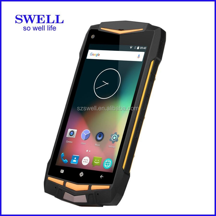 industrial serial RS232 port military smartphone IP68 1D/2D durable cell phone walkie talkie 4G android5.1 2GB+16GB V1H