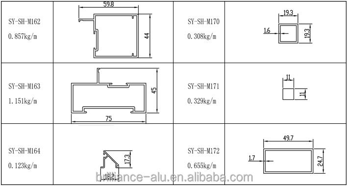 Kitchen cabinet doors china - Din Standard Aluminum Frame Glass Door Parts Buy