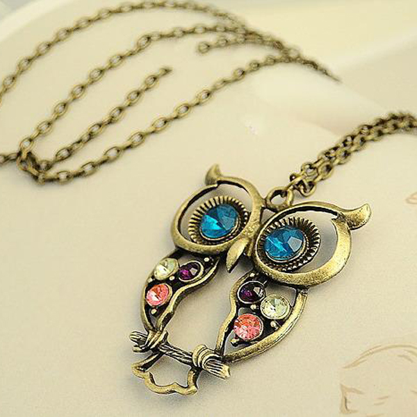 Wholesale <strong>Cheap</strong> pendant owl <strong>necklace</strong> vintage <strong>cute</strong> <strong>necklace</strong>