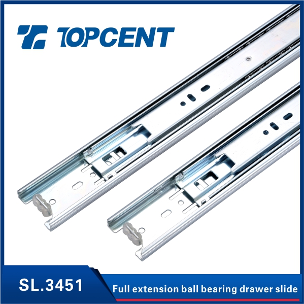 Cold rolled steel drawer slide bearing rail for cabinet door