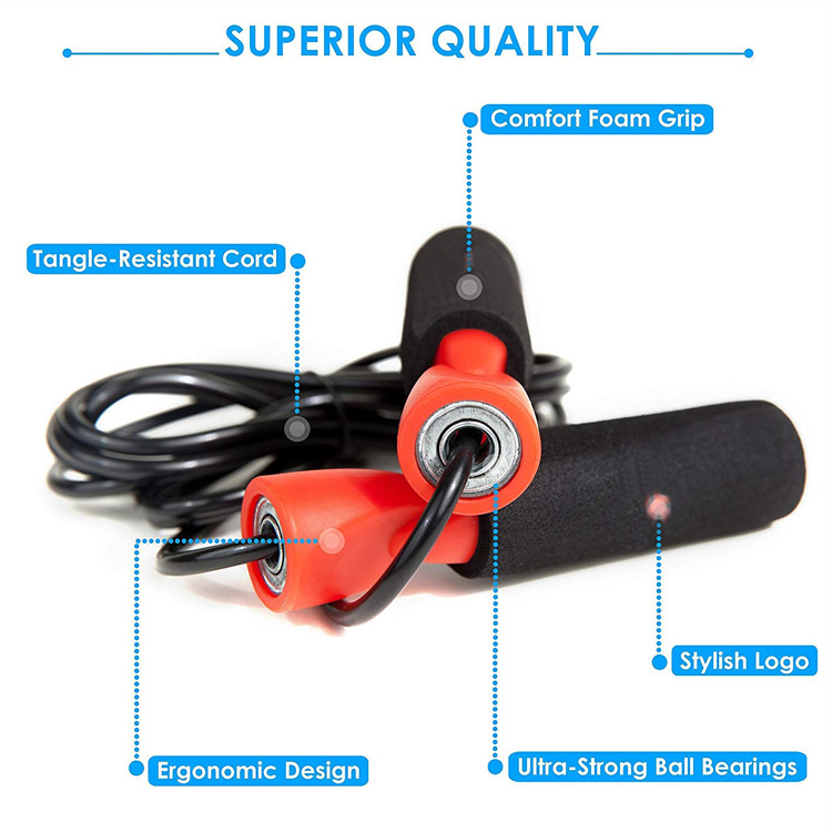 Cheap Price Fitness Training peed Skipping Weighted Foam Handles Heavy PVC Jump Rope