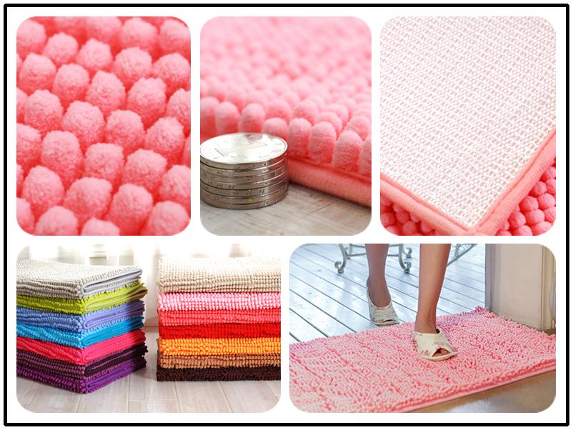 machine washable chenille bath mat roll non slip bath mat cotton