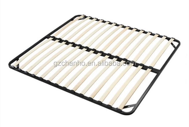 Hot Sale Folding Wooden Slat Simple Base Bed Frame Wide