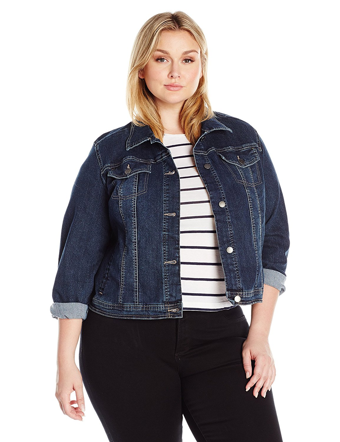 8d0612cd580 Get Quotations · Riders by Lee Indigo Women s Plus Size Denim Jacket