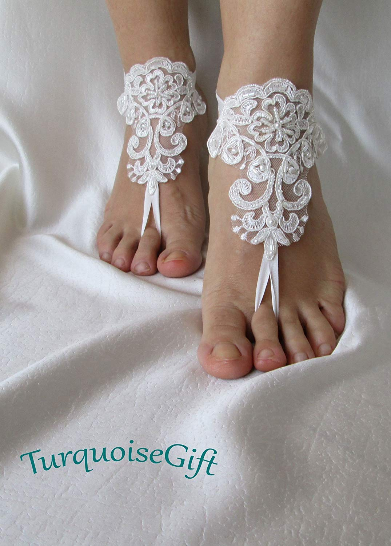 2aab475b897333 Get Quotations · Beach wedding barefoot sandals
