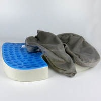 Non slip orthopedic Memory foam gel Seat Cushion for Tailbone Pain