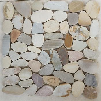 Pebble Vinyl Flooring Felt Rug Stone