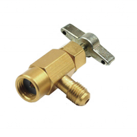 1/2'' Brass Car Air Conditioning Refrigerant Freon Valve Bottle Opener Adapter R134a Can Tap