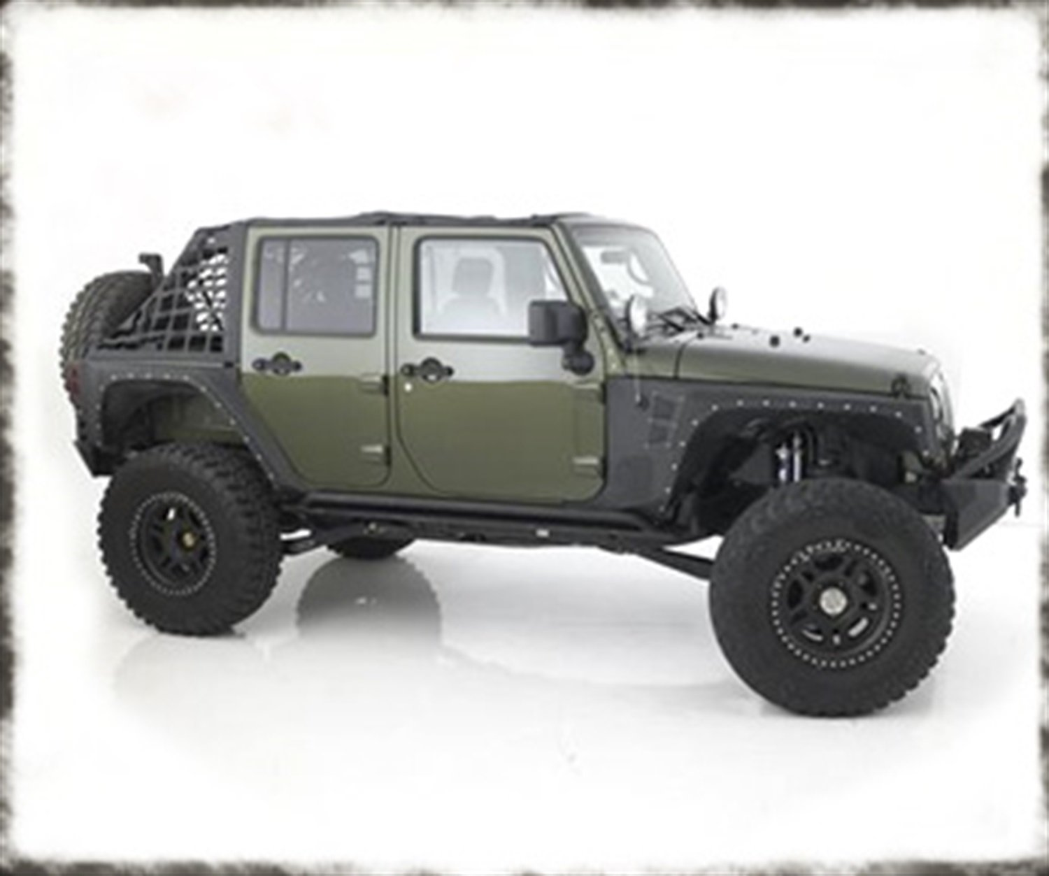 Smittybilt 76837 Front Rear XRC Set Of 4 Fender Flares For 07-15 JK Wrangler