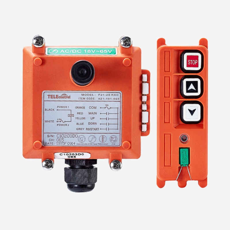Telecontrol  up and down  radio wireless Industrial remote control  F21-2S UHF 18-65V for crane and hoist