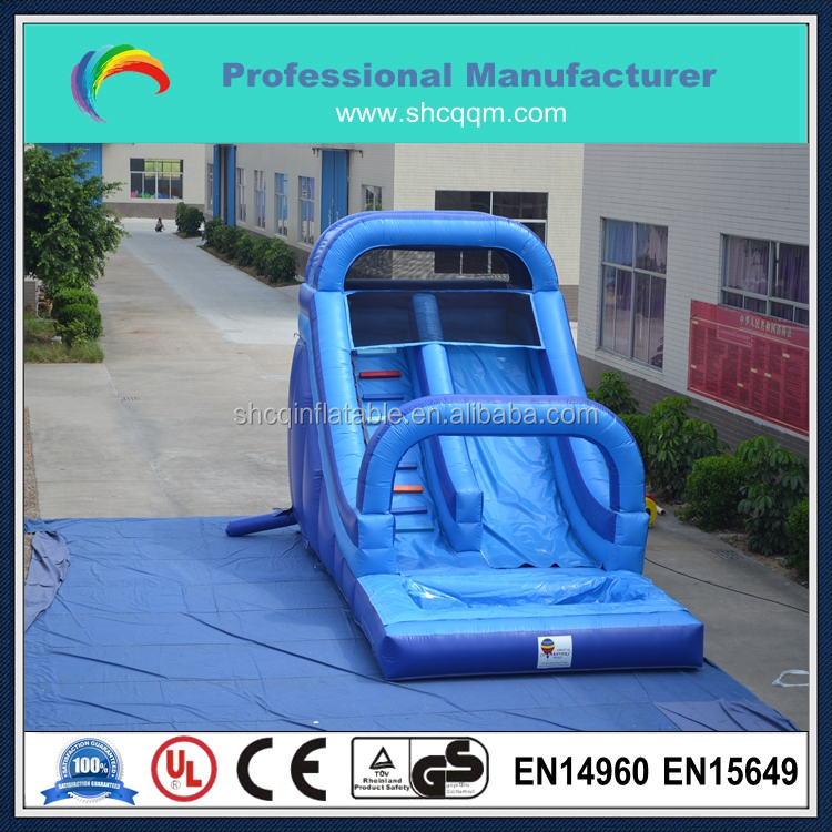 commercial adult size inflatable water slide with pool