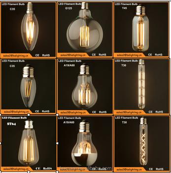 led edison bulb 1w 2w 4w 6w 8w led vintage edison filament light bulb st64