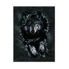 Lenticular lens fork art craft 3d wolf picture