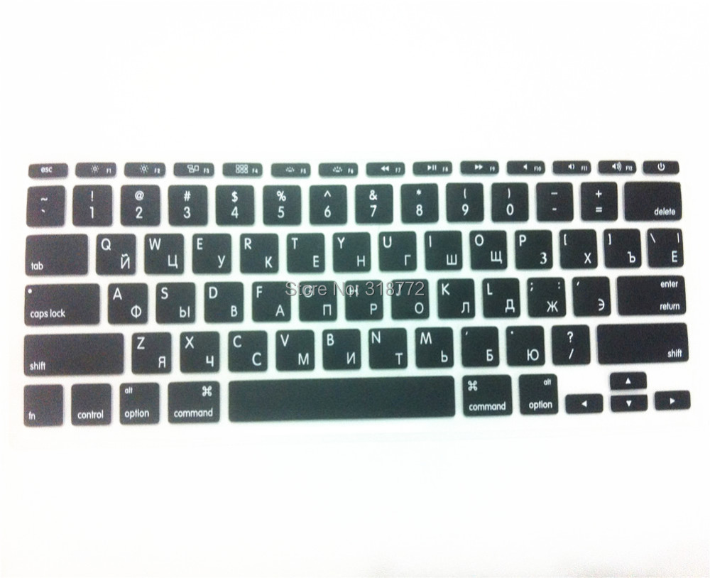 RUSSIAN Letter Silicone US Keyboard Cover Skin Protector Protective FILM for Apple MacBook Air 11 6