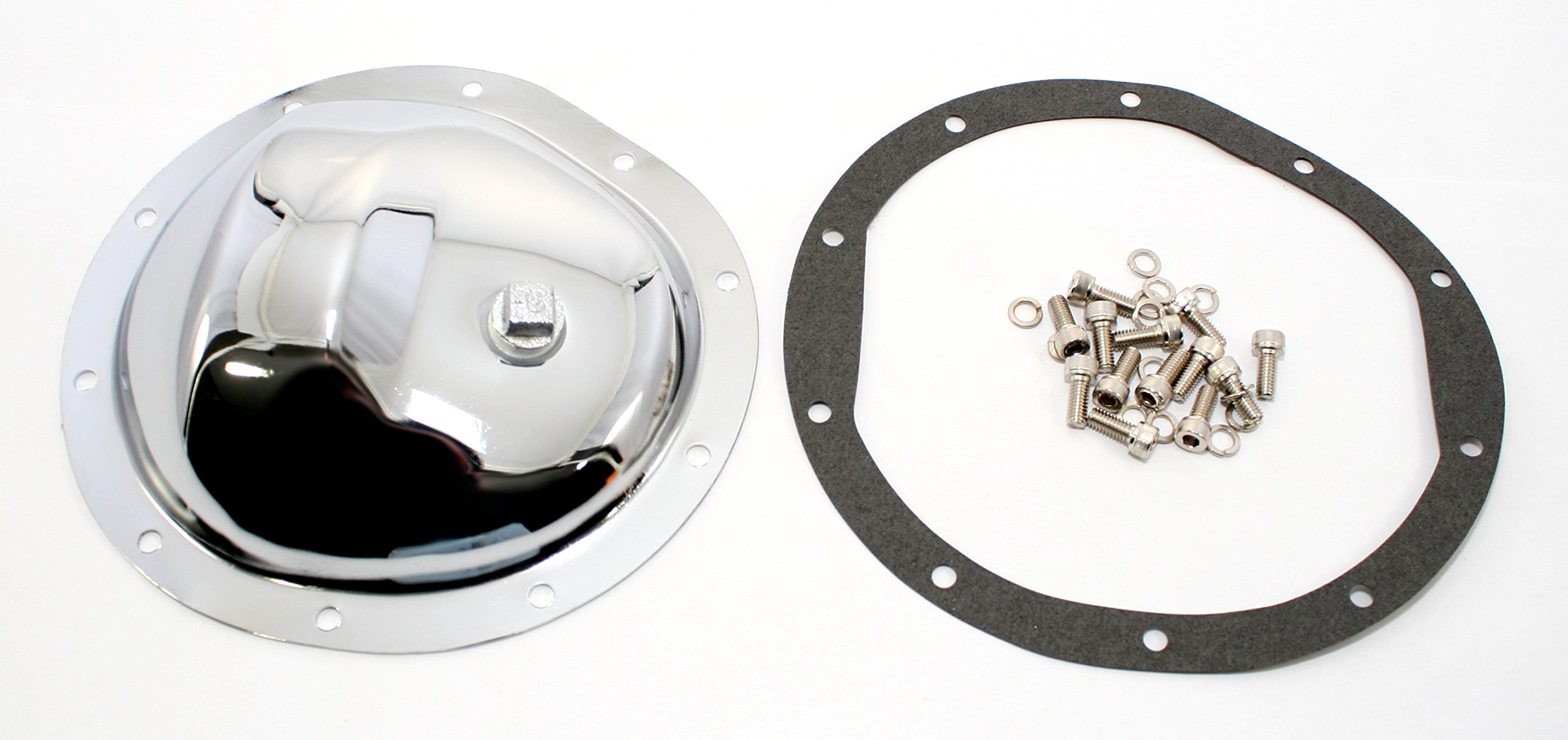 Assault Racing Products A9069KIT GM Truck 10 Bolt 8.5in Ring Gear Chrome Steel Front Differential Cover Kit