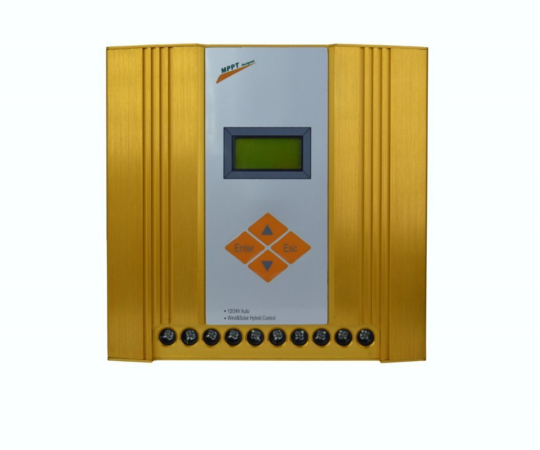 SolarEnz12V/24V Off Grid MPPT Wind Solar Hybrid Charge Controller Design for Max 600W Wind with Max 300W Solar Panel with Booster Function, LCD Display