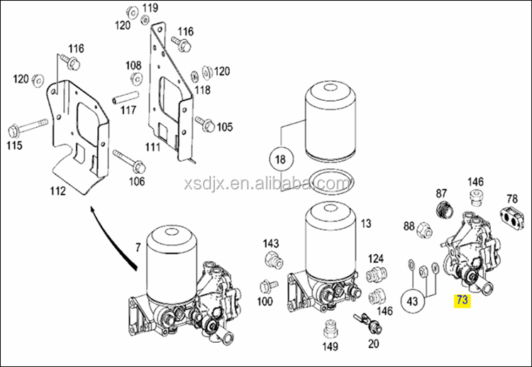 spare parts for mercedes benz actros 1846 multi circuit. Black Bedroom Furniture Sets. Home Design Ideas