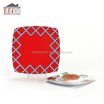 Asian style square plates 4