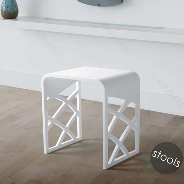 Acrylique pierre moderne tabouret en aluminium tabouret de - Tabouret plastique pour salle de bain ...