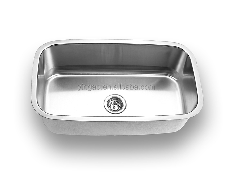 Modern design undermount cheap 304 stainless steel single bowl kitchen sink