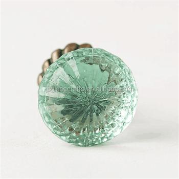 Light Mint Green Glass Knobs Drawer Handle Decorative Glass Knob ...