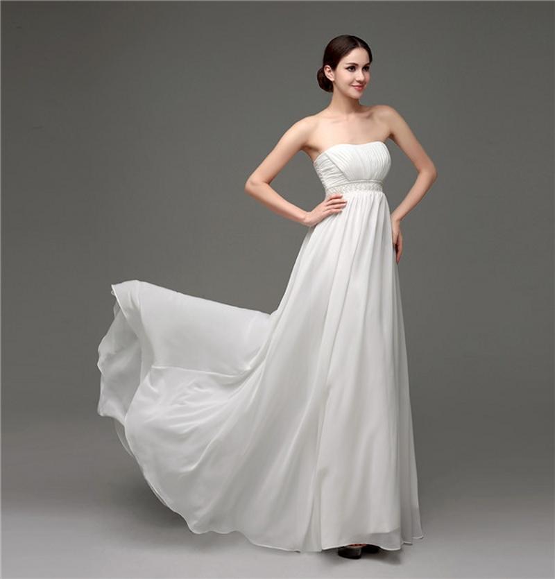 Cheap Elegant Wedding Dresses: Elegant Cheap Summer Beach Wedding Dresses Strapless