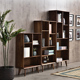 Black Walnut modern wood furniture classic library bookcase