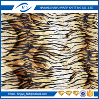2017 New food grade animal printing velour fabric with ISO9001:2008