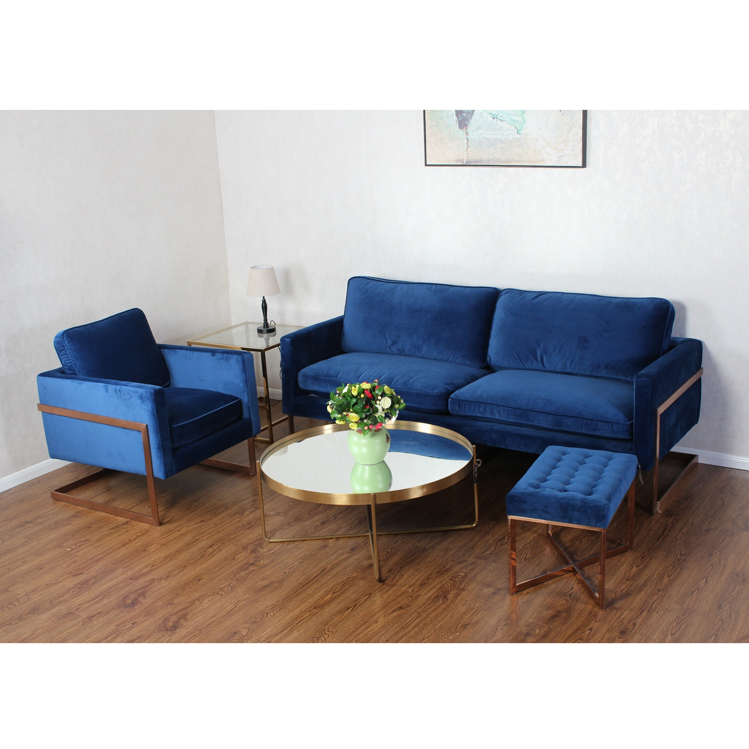 Modern Luxury Velvet Sofa Furniture Comfortable Living Room Blue Velvet  Sofa - Buy Metal Blue Sofa,Luxury Velvet Sofa,Blue Velvet Sofa Product on  ...