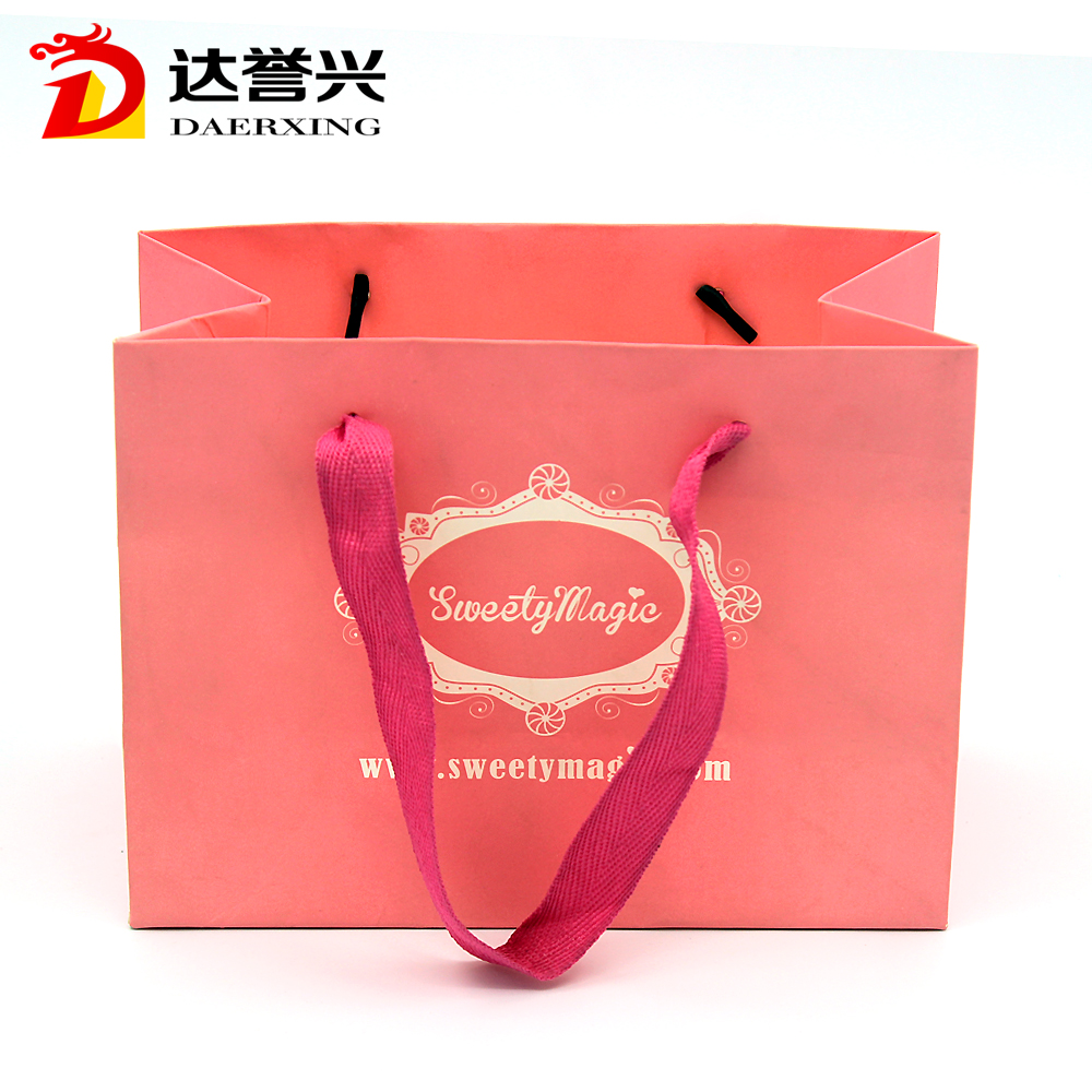 2017 Guangdong gift paper handle bags for birthday party