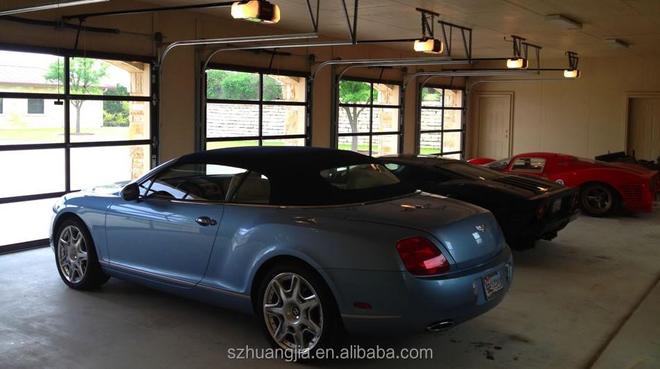 Comercial industrial autom tica r pida marco de aluminio panel de vidrio esmerilado puerta de - Puerta de garaje automatica precio ...