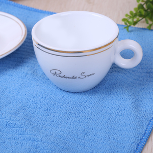 All purpose microfiber tea towel stripes weave dish wash kitchen clean cloth